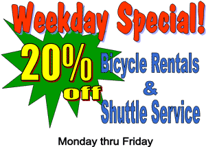 Damascus VA shuttle service weekday special,